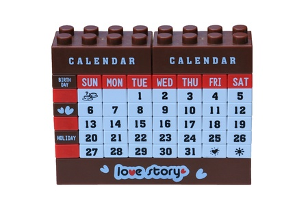blocks of desktop calendar Stock Photo - 17448634