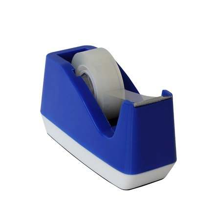 Blue tape holder isolated over white background Stock Photo - 17993788