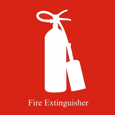 fire fighting equipment: Fire extinguisher equipment area Stock Photo