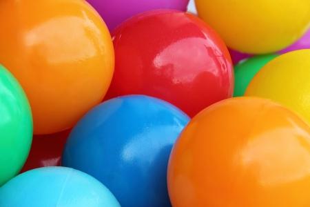 A background of colour plastic balls