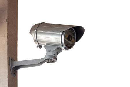 Close-Up shooting of CCTV or security camera Stock Photo - 26297527