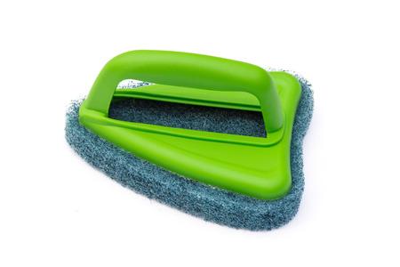 Brush scrubber isolated over white background photo