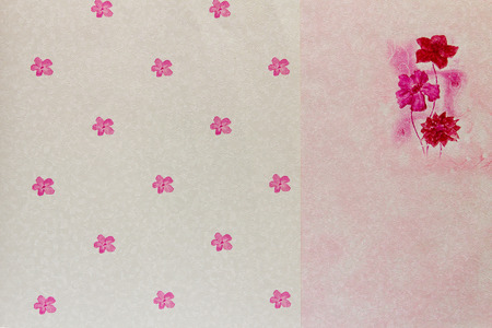 Pink flower wallpaper for interior decoration, background and pattern