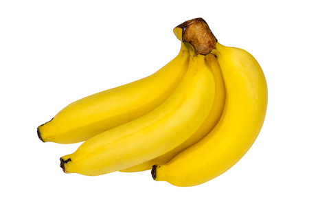 Bunch of ripe bananas isolated over white background