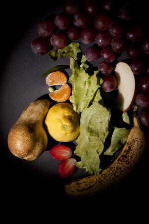 フルーツの顔 写真素材