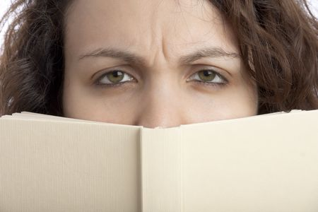 sceptical: Sceptical Girl with Book