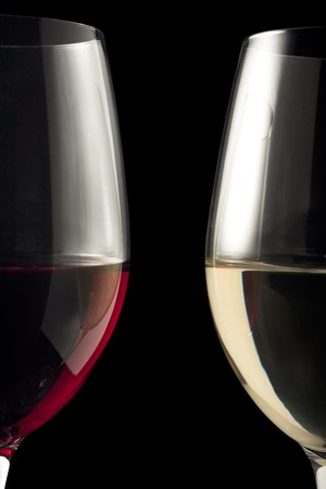 対称的なワイングラス