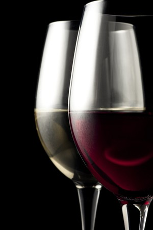 ��white wine �: Red and White Wine Glasses