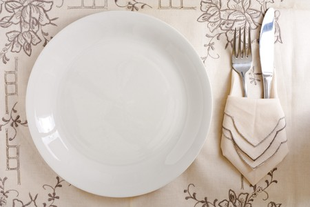 Dish with Silverware