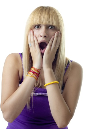 Shocked Girl Stock Photo - 7424315