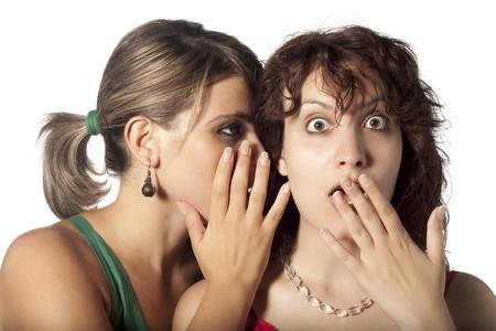 tell: Telling a Secret Stock Photo
