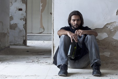 vagrant: Alcoholic Sitting on the Floor