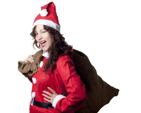 Winking Santa Woman photo