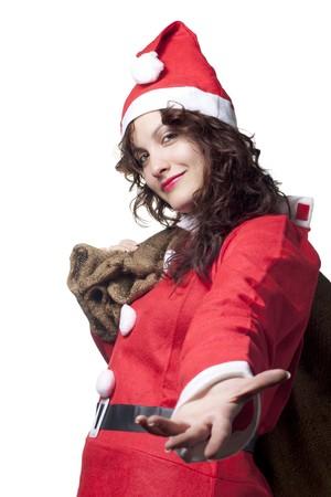 Santa Woman Giving a Hand Stock Photo - 7905350