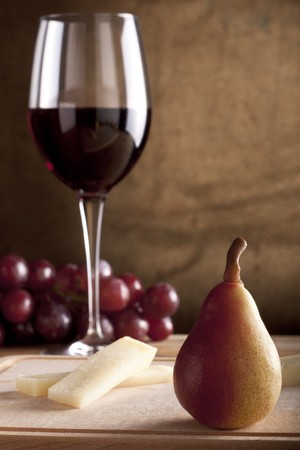 Pear with Wine and Cheese photo