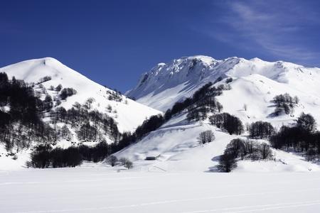 Wintersportplaats Campitello Matese Stockfoto