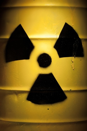 Radioactive Barrel with Nuclear Sign Stock Photo - 9871342