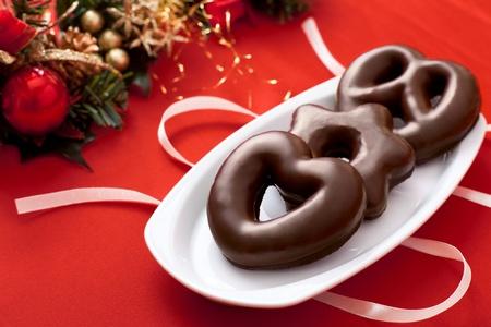 cioccolato natale: Lebkuchen, un tradizionale tedesca Torta di Natale Archivio Fotografico