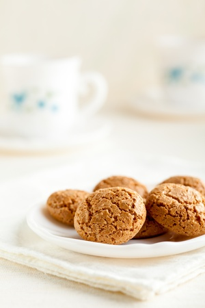 Amaretti, Traditional Italian Cookies Made from Almonds Stock Photo - 12785584