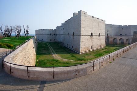 swabian: Norman-Swabian Castle of Barletta  S Maria Bastion  Apulia, Italy