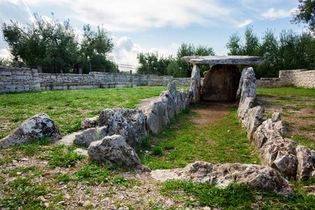 Dolmen della Chianca, Bisceglie, Apulia, Italy 版權商用圖片