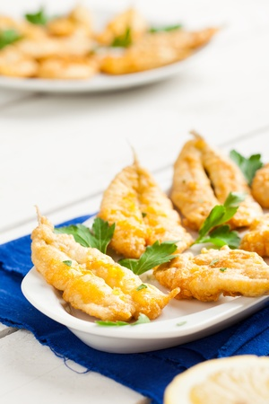 Fried Anchovies with Parsley and Lemon