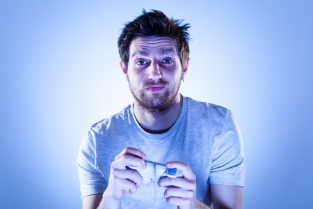 gamepad: Sorry Man Playing Videogames with Gamepad