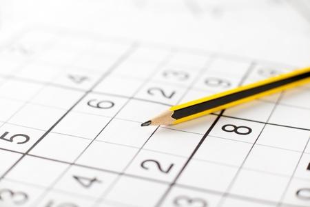 sudoku: Yellow and Black Pencil on Sudoku Game