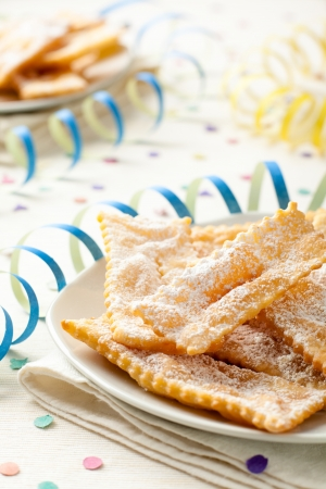 chiacchiere: Chiacchiere, a Traditional Italian Fried Sweets Stock Photo