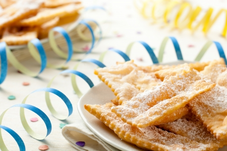 Chiacchiere, een traditionele Italiaanse Gebakken Sweets