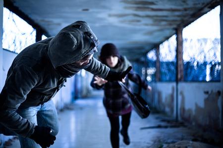 snatch: Snatcher Stealing a Bag from a Woman