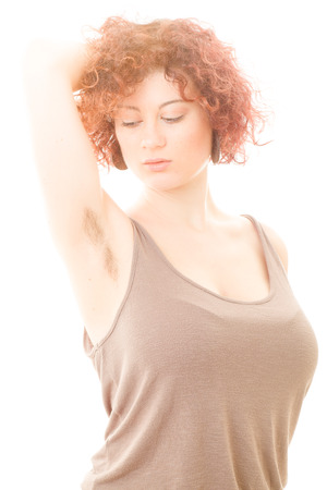 Hairy brunette women