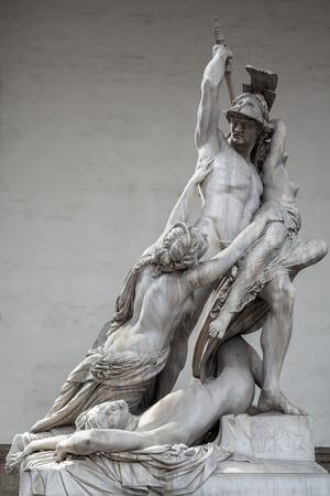 pio: The Rape of Polyxena, sculpture by Pio Fedi, 1865. Loggia dei Lanzi, Florence.