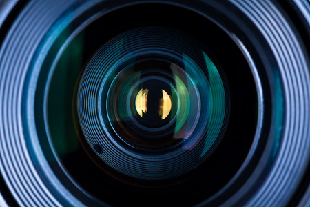 reflex camera: Photography Lens Extreme Close Up Stock Photo
