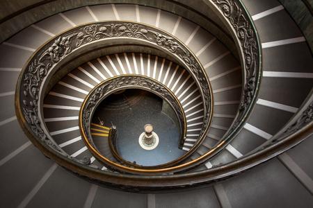 上からバチカンの中の螺旋階段