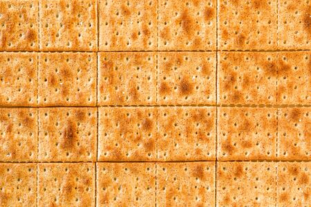 Full Frame Shot with Many Whole Wheat Crackers