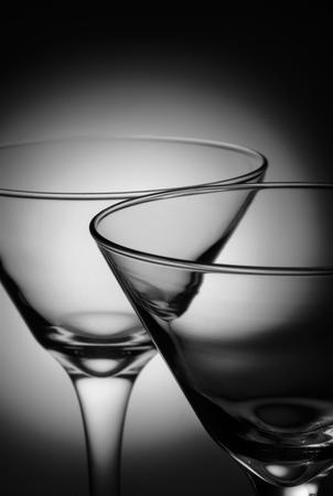 close up at martini glasses