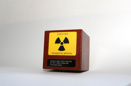 strontium: A box of radioactive isotopes in a laboratory- big news in England at the moment!
