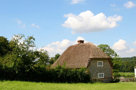 An old thatched cottage from Walderton in West Sussex England