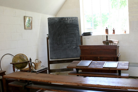 An old classroom from 1895 photo
