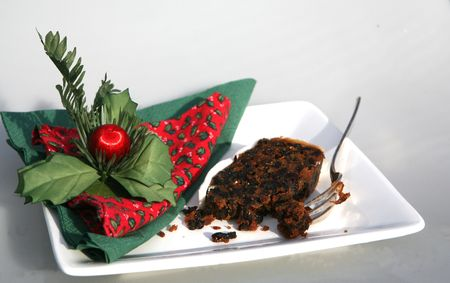 A festive snack of Christmas cake Stock Photo - 2171220