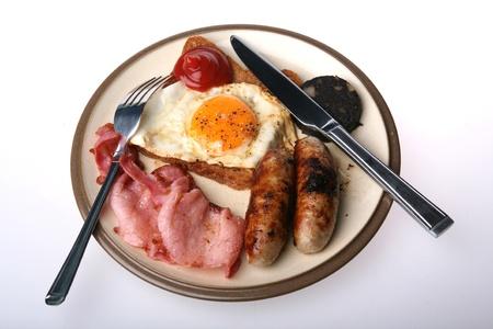 A studio isolated full English breakfast