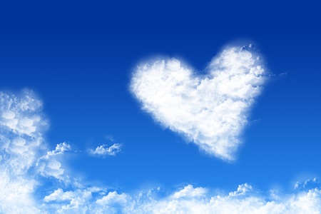 Cloud-shaped heart on a sky