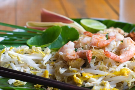 Pad thai. Thai noodle style  photo