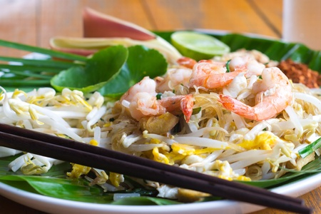 Pad thai. Thai noodle style  Stock Photo