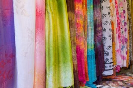 fabric thai style Stock Photo