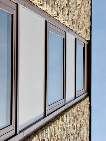 Wall with windows photo