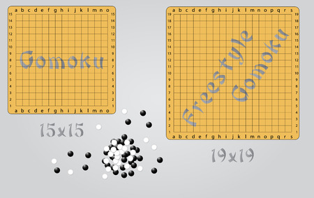 game: Gomoku and freestyle gomoku boards
