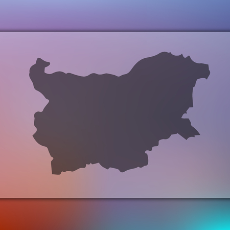 Blurred background with silhouette of Bulgaria map. Vector silhouette of Bulgaria map Illustration