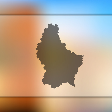 Blurred background with silhouette of Luxembourg map. Çizim